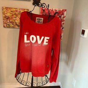 Red sweatshirt